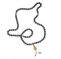 LAPIS LAZULI AND GEMSTONE PRAYER BEADS at Ross's Jewellery Auctions