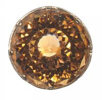 9CT GOLD RING SET WITH A LARGE CITRINE by Citrine at Ross's Auctions