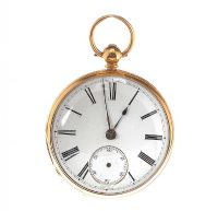 18CT GOLD OPEN FACE 1861 SCOTTISH POCKET WATCH by Pocket & Fob Watches at Ross's Auctions