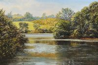 CLEA LOUGH, COUNTY DOWN by Allan Ardies at Ross's Auctions