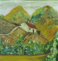 COTTAGE IN THE HILLS, PORTUGAL by Silvan Delaney at Ross's Auctions
