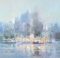 WINTER MORNING, NEW YORK by Colin Gibson at Ross's Auctions