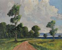 THE ROAD TO LOUGH NEAGH by William Jackson at Ross's Auctions