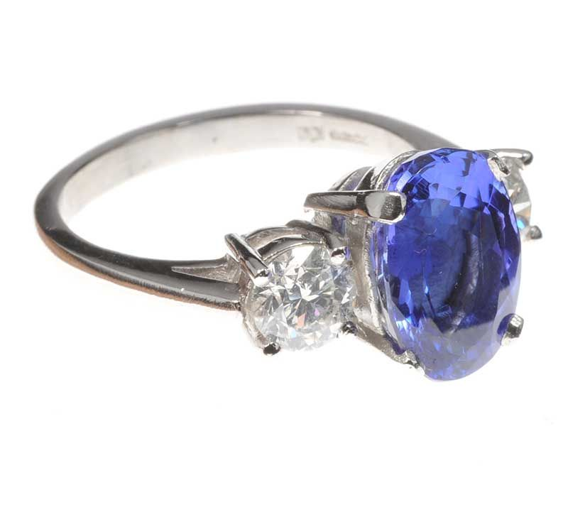 platinum tanzanite and ring