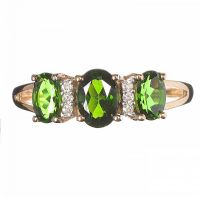 9CT GOLD DIOPSIDE AND DIAMOND RING by Peridot at Ross's Auctions