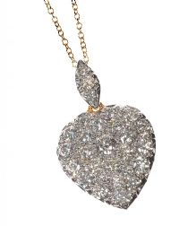 7d2be8b2ccf5 18CT GOLD AND DIAMOND HEART-SHAPED PENDANT AND CHAIN at Ross s Auctions
