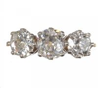 993b9aa7073d 18CT GOLD AND DIAMOND THREE STONE RING at Ross s Auctions