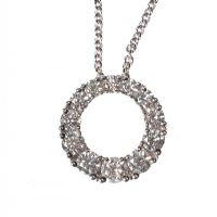 bcacaa8b36a7 18CT WHITE GOLD AND DIAMOND PENDANT AND CHAIN WITH BOX at Ross s Auctions