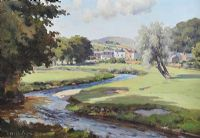 FOURTH GREEN, CUSHENDALL GOLF COURSE by Charles McAuley at Ross's Auctions