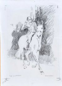 THE HUNTSMAN by Basil Blackshaw HRHA HRUA at Ross's Auctions