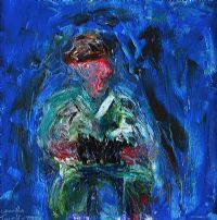 THE ACCORDION PLAYER by Charlie Turnberry at Ross's Auctions