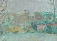 DUNADRY LANDSCAPE by Basil Blackshaw HRHA HRUA at Ross's Auctions