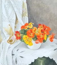 STILL LIFE, NASTURTIUMS by Elizabeth McEwen RUA at Ross's Auctions