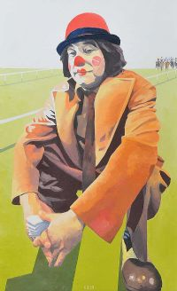 CLOWN AT THE RACES by Jonathan Aiken at Ross's Auctions