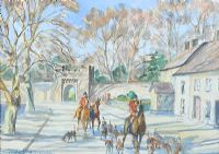 THE HUNT AT TEMPLEPATRICK by Coralie de Burgh Kinahan at Ross's Auctions
