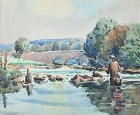 CULDAFF RIVER, DONEGAL by Robert Taylor  Carson RUA at Ross's Auctions
