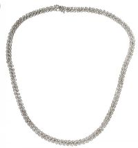 18CT WHITE GOLD AND DIAMOND NECKLACE at Ross's Auctions