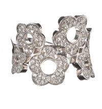 18CT WHITE GOLD AND DIAMOND RING BY DESIGNER PASCALE BRUNI at Ross's Auctions