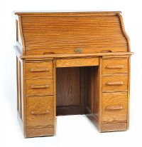 ANTIQUE ROLL TOP DESK at Ross's Auctions