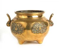 CHINESE BRONZE POT at Ross's Auctions