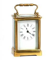 BRASS CARRIAGE CLOCK at Ross's Auctions