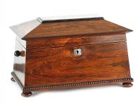 ROSEWOOD TEA CADDY at Ross's Auctions