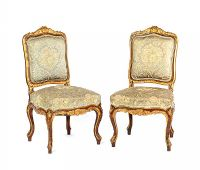PAIR OF HALL CHAIRS at Ross's Auctions