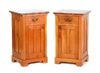 PAIR OF MARBLE TOP BESIDE PEDESTALS at Ross's Auctions