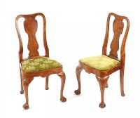 PAIR OF WALNUT SIDE CHAIRS at Ross's Auctions