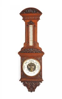 VICTORIAN OAK BAROMETER at Ross's Auctions