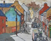 SCOTCH STREET, ARMAGH by John F. Hunter RUA ARCA at Ross's Auctions