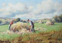 HAY MAKING IN THE GLENS by Charles McAuley at Ross's Auctions