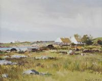 AT BALLYCONNEELY, COUNTY GALWAY by Maurice Canning  Wilks ARHA RUA