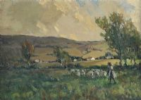 THE SHEPHERDESS by James Humbert Craig RHA RUA at Ross's Auctions