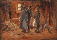 STABLE INTERIOR by James Humbert Craig RHA RUA at Ross's Auctions