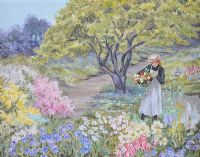 PICKING FLOWERS by Helen Williamson at Ross's Auctions