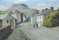 A CHAT IN THE STREET, CUSHENDALL by Charles McAuley