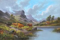 HIGHLAND CATTLE by Scottish School at Ross's Auctions
