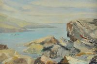 ROCKS & FORESHORE by G. Chaplin at Ross's Auctions