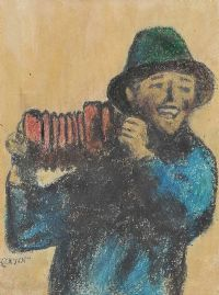 THE CONCERTINA PLAYER by William Conor RHA RUA at Ross's Auctions