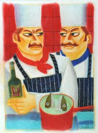 TWO CHEFS by Graham Knuttel