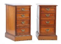 PAIR OF VICTORIAN BEDSIDE PEDESTALS at Ross's Auctions