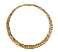 TIFFANY & CO. 18CT GOLD 'VANNERIE' NECKLACE WITH BOX at Ross's Auctions