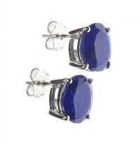 STERLING SILVER AND LAPIS LAZULI STUD EARRINGS at Ross's Jewellery Auctions