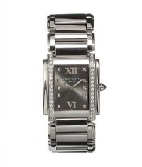 PATEK PHILIPPE 'TWENTY-4' DIAMOND-SET STAINLESS STEEL LADY'S WRIST WATCH at Ross's Auctions
