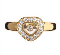 CHOPARD 'HAPPY DIAMONDS' 18CT GOLD AND DIAMOND RING at Ross's Auctions
