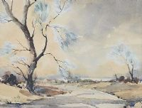 VIEW OF THE LOUGH, COUNTY ANTRIM by Joan Murray at Ross's Auctions