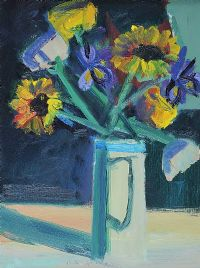 FLOWERS IN A WHITE JUG by Brian Ballard RUA at Ross's Auctions