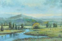 RIVER IN A LANDSCAPE by Newton Richards at Ross's Auctions