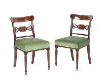 PAIR OF ANTIQUE PIERCED BACK SIDE CHAIRS at Ross's Auctions